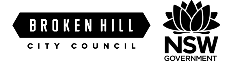 Broken Hill City Council and NSW Government logos