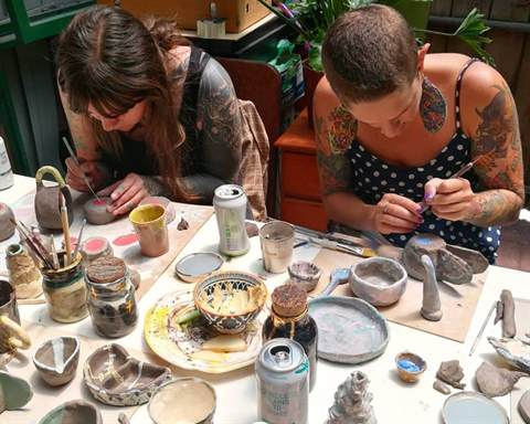 Image of participants in a Clay workshop