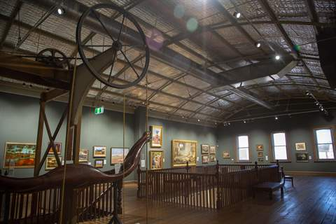 image of upstairs permanent collection