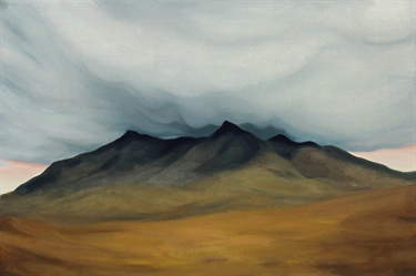 Max Berry - Cloud Covered Mountain Top, 92x61