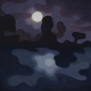 Max Berry - Reflection of Moon on Water, 46x46