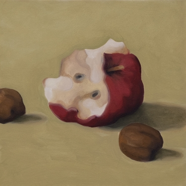 Max Berry - Table Scraps and Half Eaten Apple, 32x32